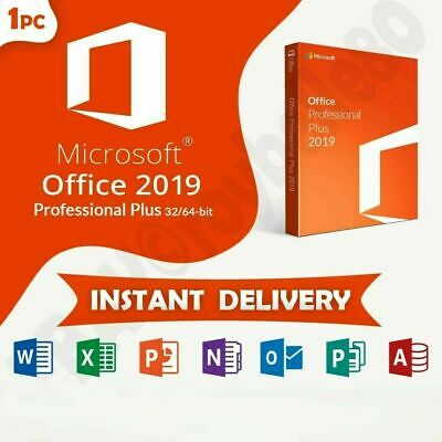Microsoft Office 2019 PRO Plus Official License Key 🔑🔑FOR 1 PC GENUINE 🔑🔑