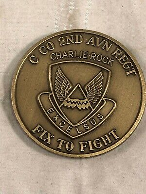 US Army Challenge Coin 2nd Infantry Division C Co 2 Avn Regt, Named Recipient