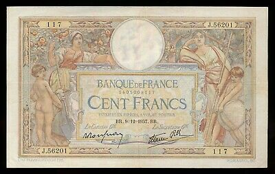 1939 France 100 Francs Note P. 86b VF Note