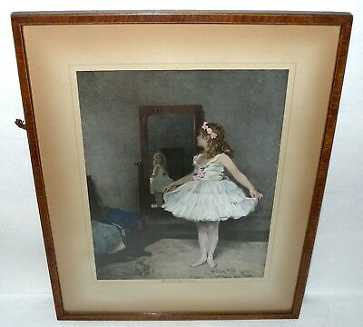 "GERALD E HARRISON - ""The Little Columbine"" Framed Print. Collectable & Rare"