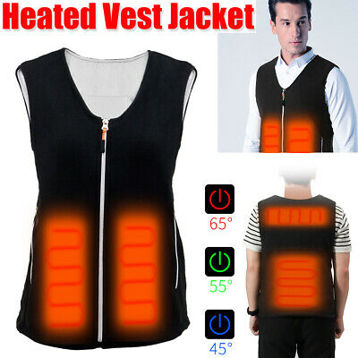Electric USB Heated Vest Jacket Warm Up Heating Pad Cloth Body Warmer Men/Women