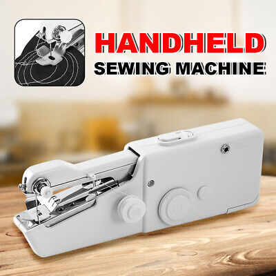 Electric Mini Handheld Sewing Machine Portable Cordless Stitch Home Clothes DIY