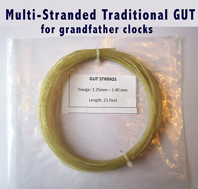 GUT for GRANDFATHER LONGCASE CLOCK or FUSEE CLOCK, Multi-Stranded Natural Gut