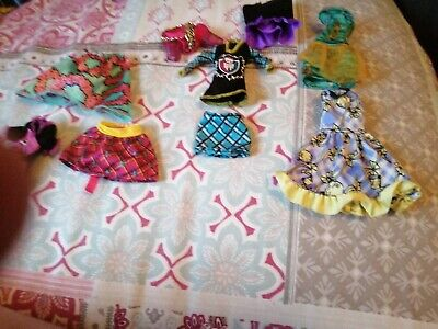 monster high/ever after high Doll clothing bundle For Ooak Or Spares