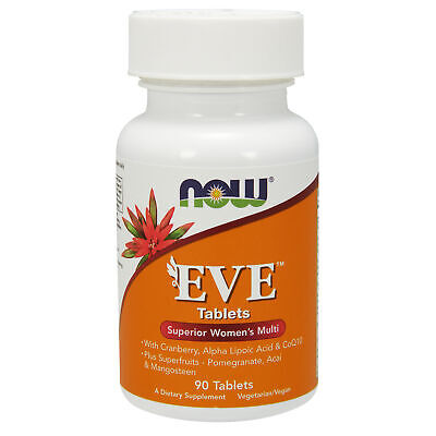 NOW Foods Eve Superior Womens Multi 90 Tablets | Coenzyme Q10 Acai Lycopene