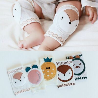 1 Pair Cotton Elastic Toddler Leg Warmers Baby Crawl Knee Pads Elbow Protector