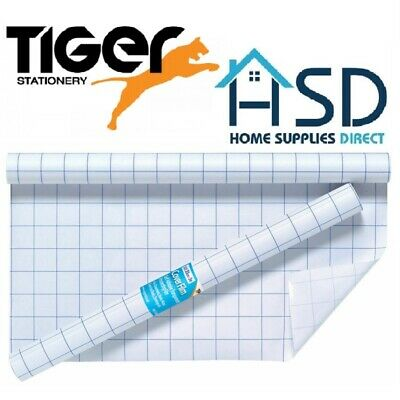 Tiger Clear Sticky Back Plastic Book Cover Film Adhesive Roll Protector 50cm x3m