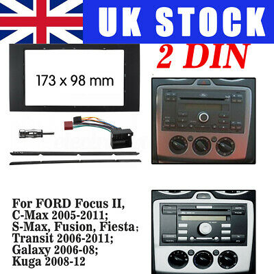 For Ford Double Din Stereo Fascia Fitting Surround Wiring Adaptor Facia Panel UK