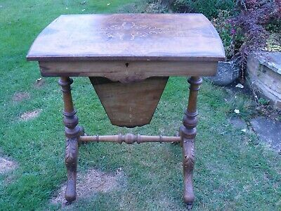 Victorian Walnut Sewing Box / Work Table