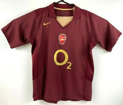 Nike Total 90 Arsenal Soccer Jersey 2006 Size XL Highbury Made in Portugal