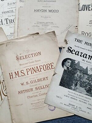Old vintage sheet music - ideal for arts and crafts - decoupage?