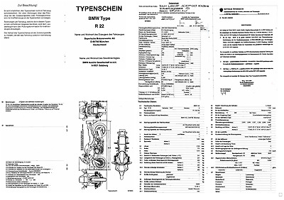 Original BMW R 1150 RS Typenschein - type certificate