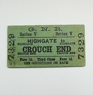 Great Northern Railway Highgate to Crouch End Railway Ticket GNR