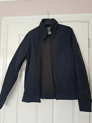 C8 Boys G Star Raw Black W/Proof Jacket Concealed Zip Hood Size L 42""
