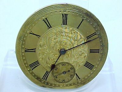 Small Antique  Pocket Watch Movement Working Order