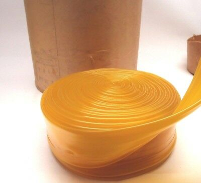 """Yellow Tint Seamless Poly 100 Ft Roll .020 Gauge X 3"""" Inch"""
