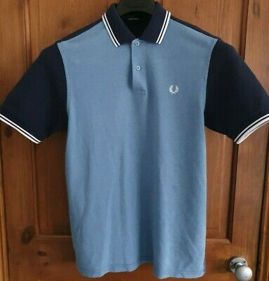 Fred Perry - Boys Polo Top - Large Youth Age 13-15 - Blue - Excellent Condition!
