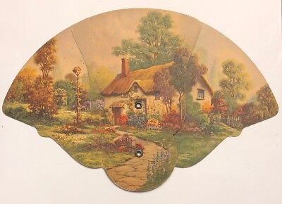 Antique Dairy Advertising Victorian Fan Young's Dairy Farm Columbus Ohio Vintage