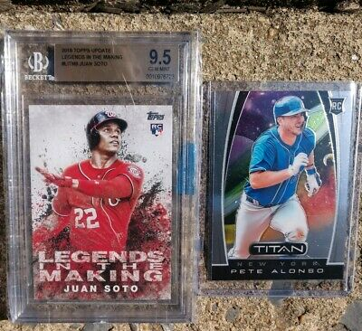 2019 Pete Alonso RC & BGS 9.5 2018 Juan Soto Topps Update Legends in the Making