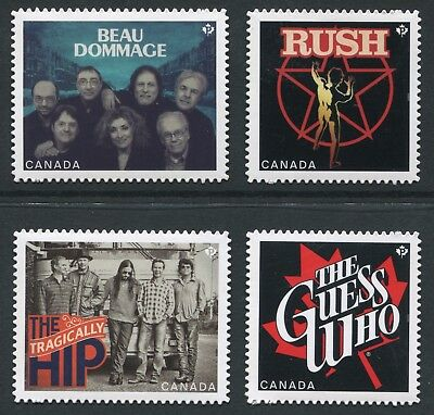 Weeda Canada 2656i-2659i VF NH Die cut Recording Artists, from Annual Collection