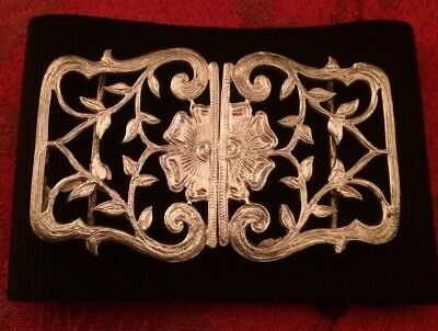 Solid Silver Nurses Belt Buckle And Fabric Belt