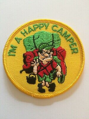 """""""Happy Camper"""" Outdoor Embroidered Boy Scout Patch 3"""""""