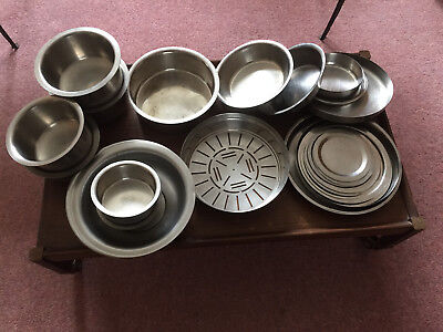 Assorted Stainless Steel Utensils Lids  Cafe Restaurant Job Lot Catering