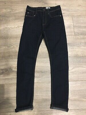 Next Boys Lovely Dark Blue Denim Skinny Jeans Age 10Yrs Bnwot