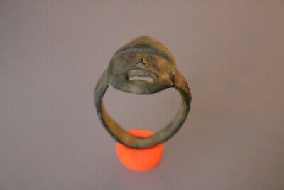 Ancient Scandinavian Bronze Ring Viking Warrior  8-10th Century AD.