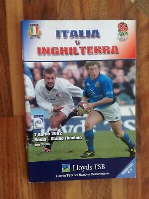 Italy v England Rugby Union Six Nations Programme 2002
