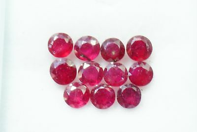 3.90 Cts Natural Ruby Round Cut 4-4.5 mm Lot 11 Pcs Calibrated Loose Gemstones