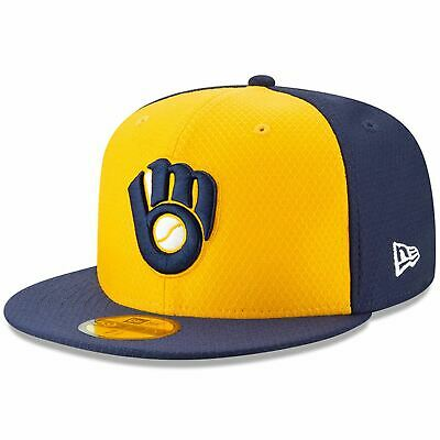 Mens New Era MLB 2019 Batting Practice 59FIFTY Fitted Milwaukee Brewers