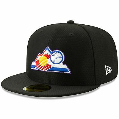 Mens New Era MLB 2019 Batting Practice 59FIFTY Fitted Colorado Rockies