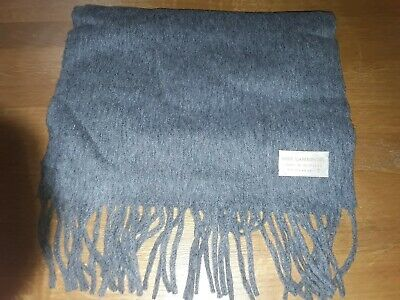 *Begg Scotland* 100% Lambswool Charcoal Grey Scarf New