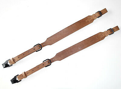 GERMAN ARMY WW2 HOT FOOD CARRIER ESSENTRAGER STRAP SET mkd Czech made LEATHER