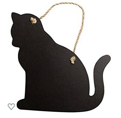 Sass & Belle Hanging Cat Chalkboard