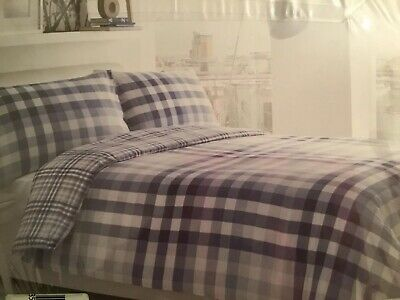 LUSCIOUS ELLIOT STRIPED PATTERNED POLLY//COTTON DUVET COVER+MATCHING CURTAINS
