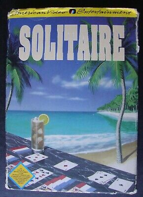Solitaire Nes Nintendo Entertainment System Video Game Tested & Working In Box