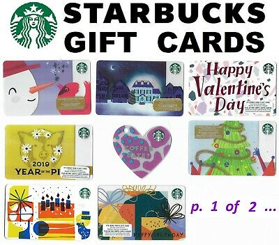 2 STARBUCKS gift cards ☕🍵🍰 cafe restaurant Collectible Canada USA coffee