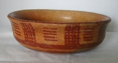 Decorated Pre-Columbian Chupicuaro Bowl 200 Bc To 200 Ad.west Mexico    .