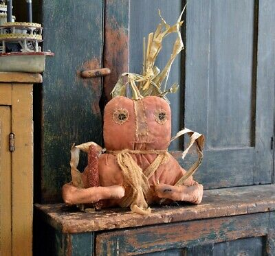 Primitive Handmade Hanging Pumpkin Head Doll / Fall Décor