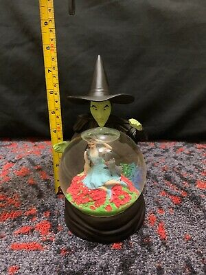 1997 WIZARD OF OZ SNOW GLOBE - WARNER BROS. EXCLUSIVE Wicked Witch Dorothy TOTO