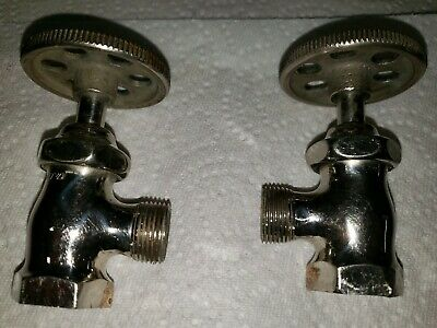 antique faucet shut off angle valve | standard wheel vtg victorian bathroom deco