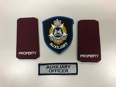 Western Australia Police Auxiliary Patch, Tab and Epaulettes Genuine Hard to get