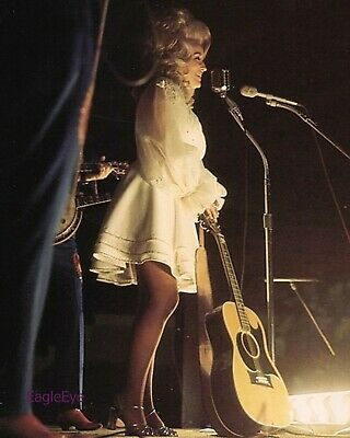 DOLLY PARTON On stage Concert 8x10 PHOTO Print RARE Color Country Music Star