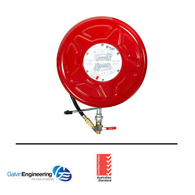 Galvin Engineering - Red Emperor® F1 Fixed Fire Hose Reel with Swing Guide Arm
