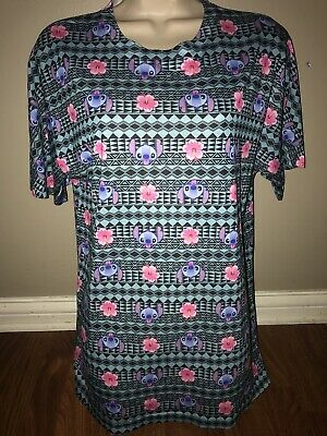 Multi Color Disney's Stitch Themed T-Shirt Mens Size Med!