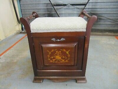 Antique  Piano Seat With Music Storage