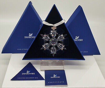 2010 Swarovski Christmas Ornament Star Snowflake Swarovski Annual Ornament