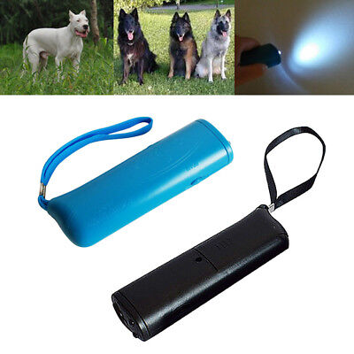 3in1 Ultrasonic Anti Bark Device Dog Control Training Repeller LED Stop Bark Que